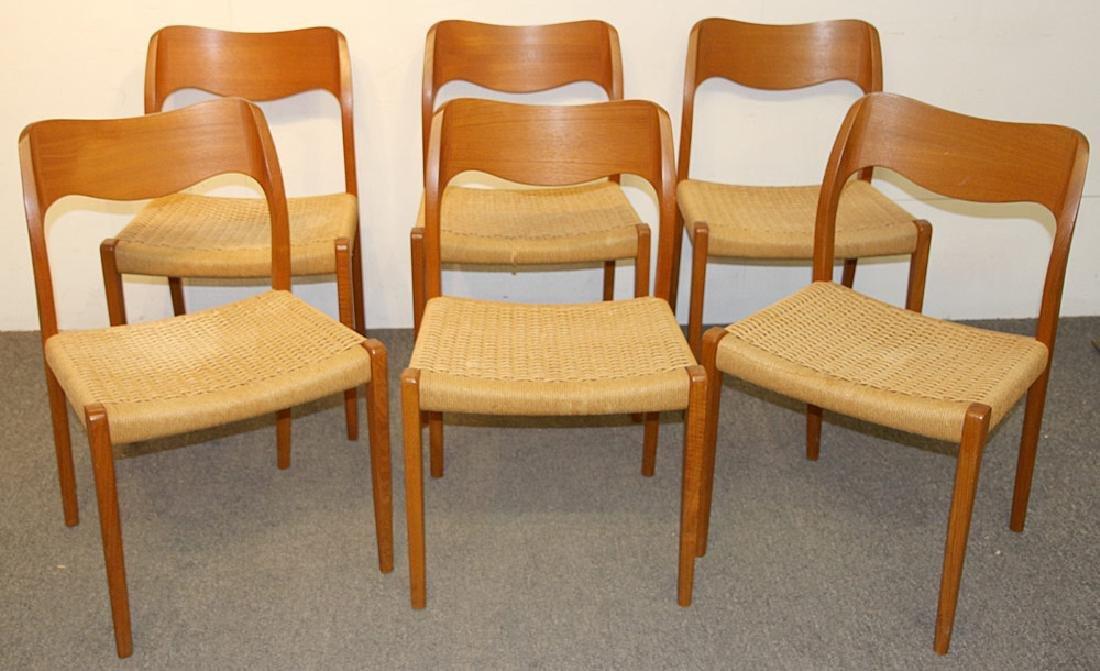 Six Niels Moller Teak Dining Chairs