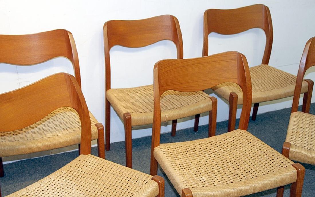 Six Niels Moller Teak Dining Chairs - 2