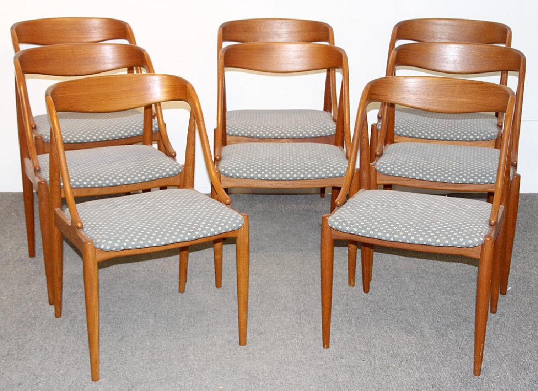 Eight Moreddi Teak Dining Chairs