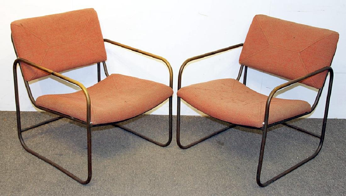 Two Kipp Stewart Tubular Patio Chairs
