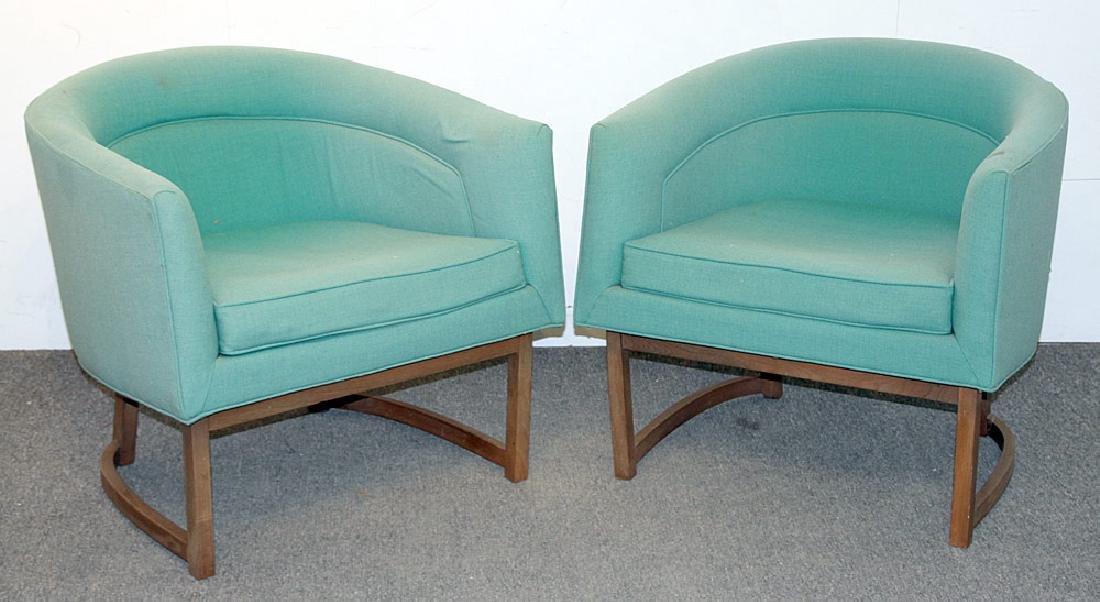 Pair Milo Baughman/Thayer Coggin Club Chairs