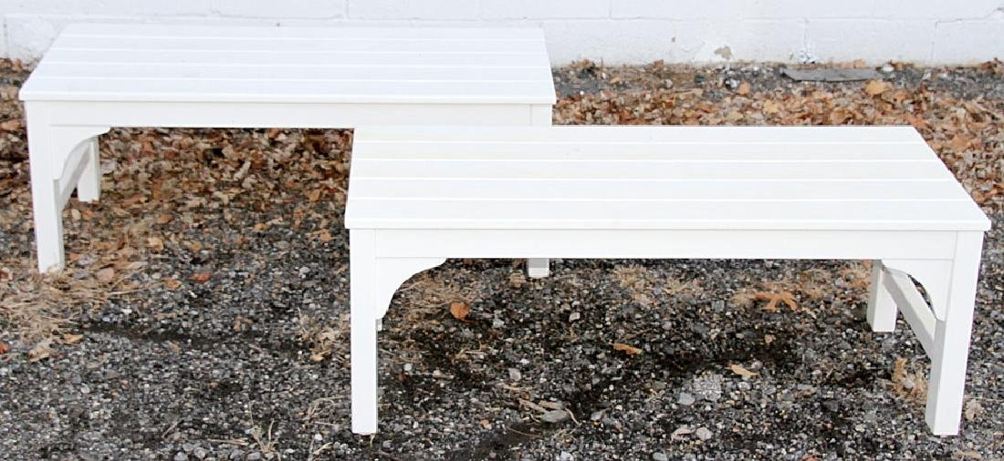 Pair of Weatherend Patio Benches