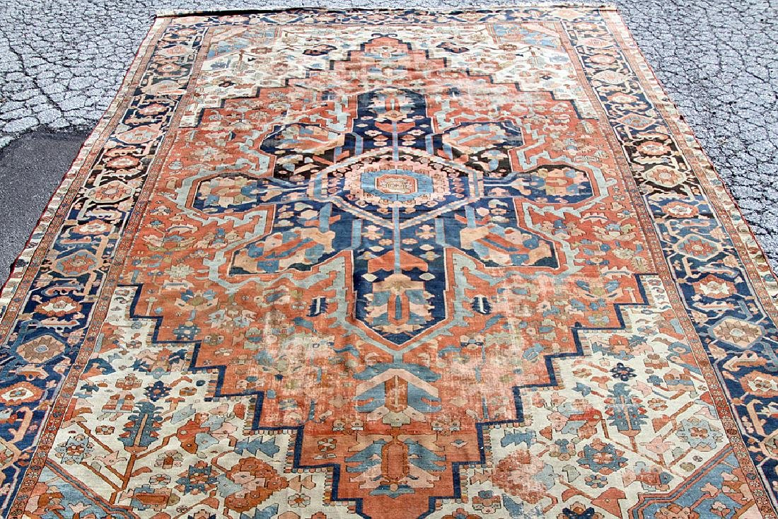 "Antique Serapi Room-size Carpet, 16'6"" x 11'8"""