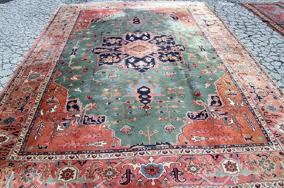 "Persian Heriz-style Carpet, 14'2"" x 9'11"""