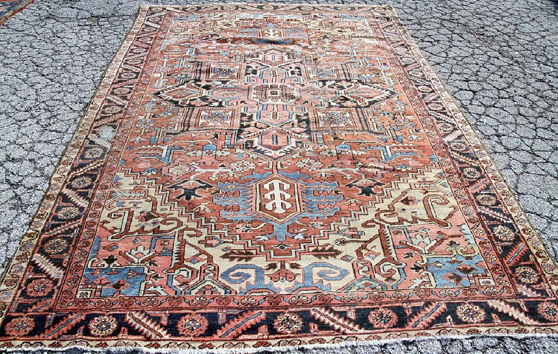 "Antique Heriz Room-size Carpet, 7'11"" x 11'10"""