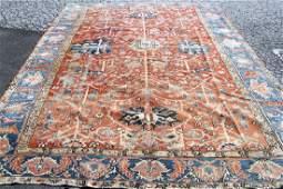 "Antique Heriz Room-size Carpet, 10'1"" x 13'2"""
