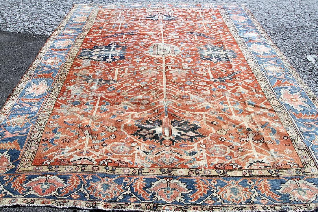 "Antique Heriz Room-size Carpet, 10'1"" x 13'2"""