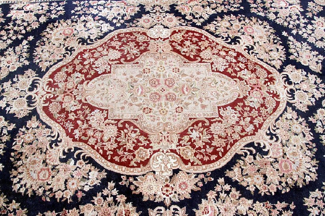 """Aubusson-style Room-size Carpet, 11'10"""" x 8'7"""" - 2"""