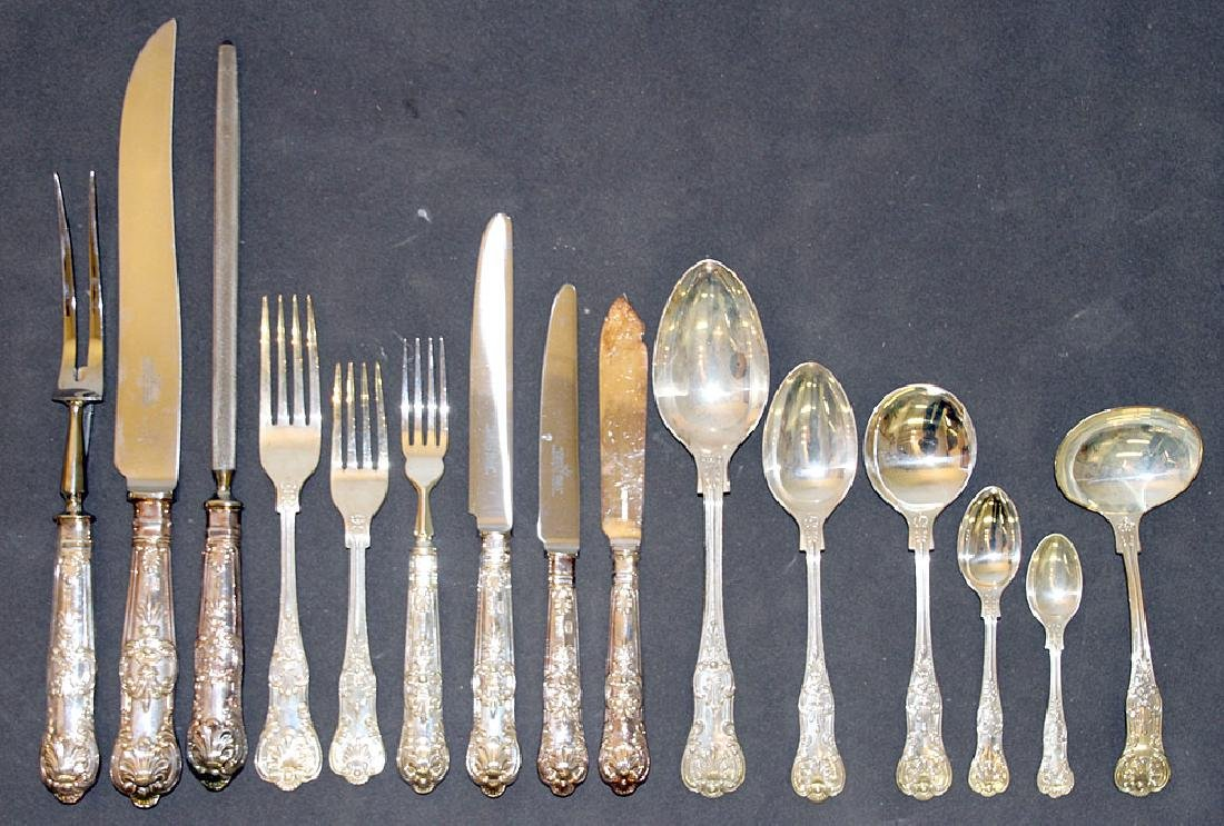English Roberts & Belk Sterling Flatware Service