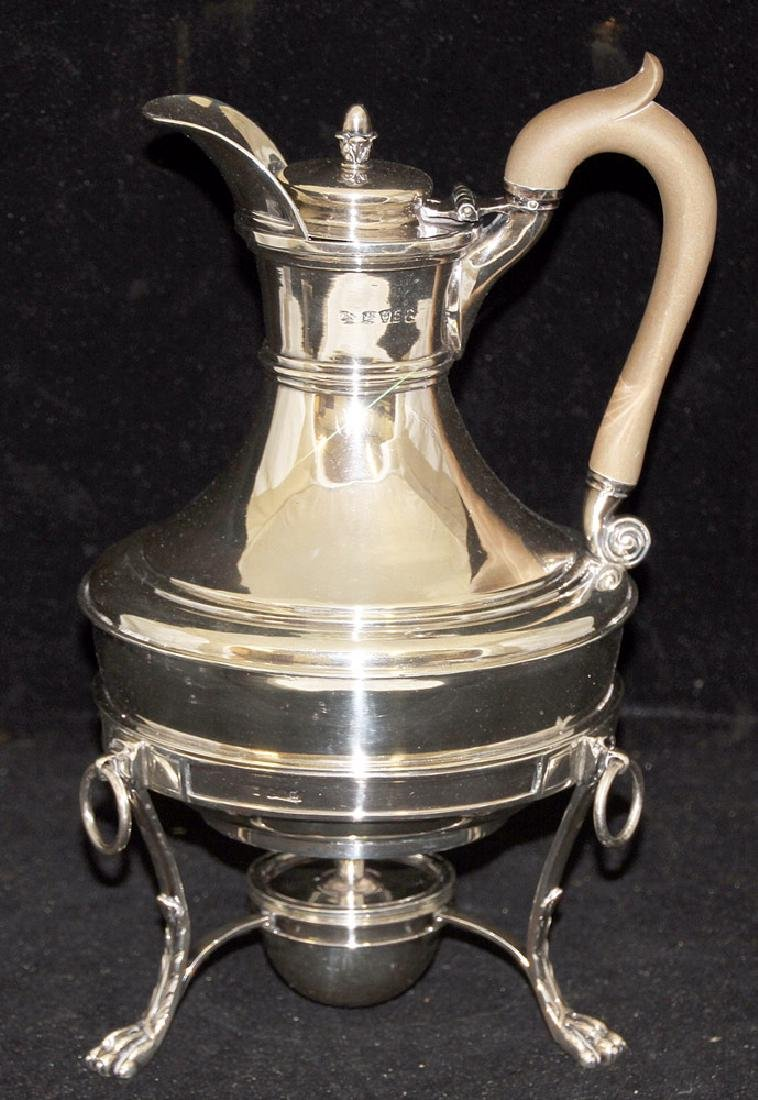 Paul Storr George III Coffee Pot on Stand