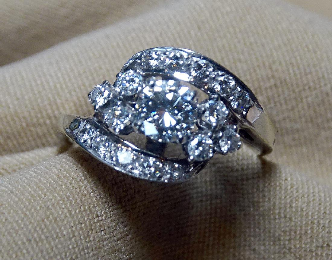 Diamond Dinner Ring in 14K White Gold