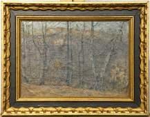 Walter Emerson Baum Oil/Canvas Board, Long Woods