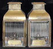 Pair of Davey & Co. Brass Ships Lanterns