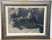 Violet Oakley Oil on Canvas Genre Scene