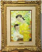 Le Pho Oil on Canvas, Mother and Child