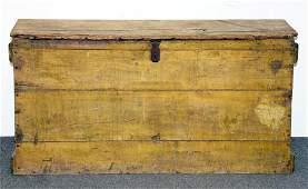 19th Century Painted Pine Grain Bin