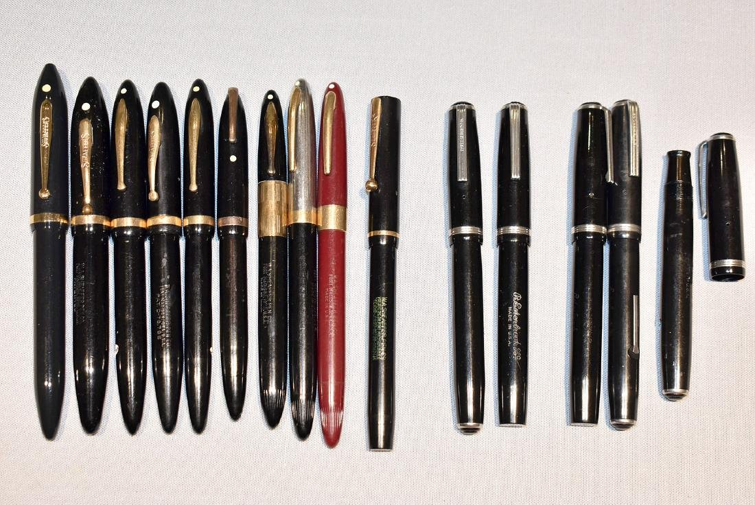 15 Fountain Pens: Sheaffer and Esterbrook