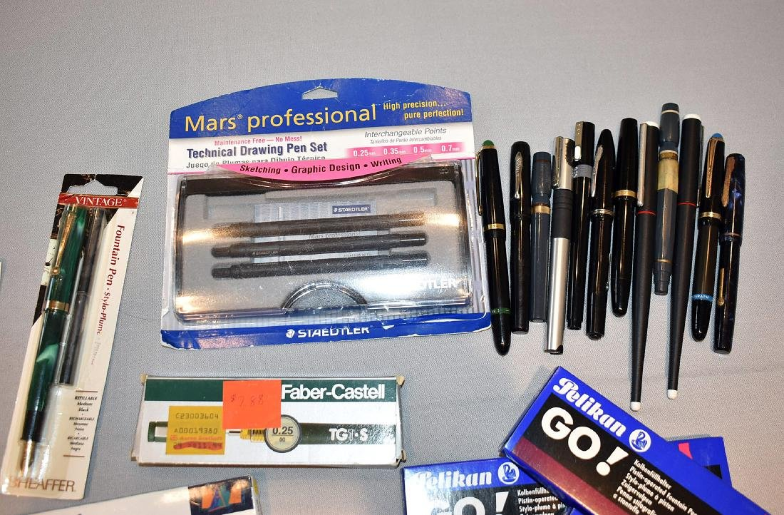 Lot of Contemporary Fountain & Art Pens - 2
