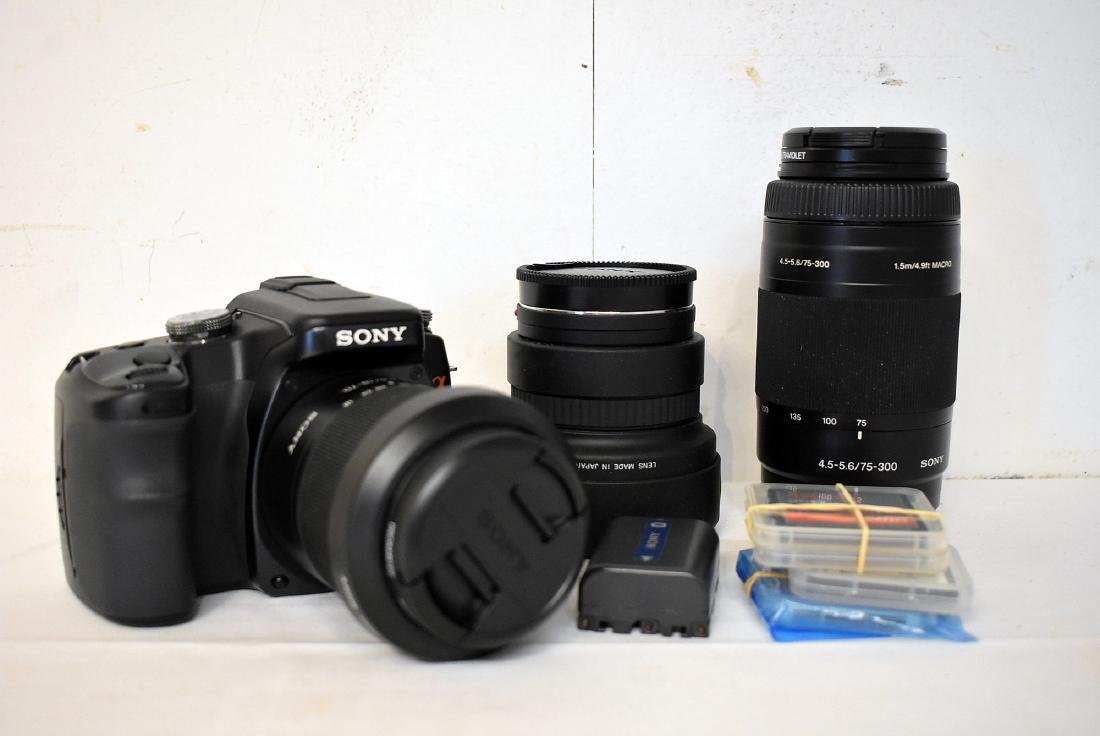 Sony A100 Camera, 2 Lenses and Accessories