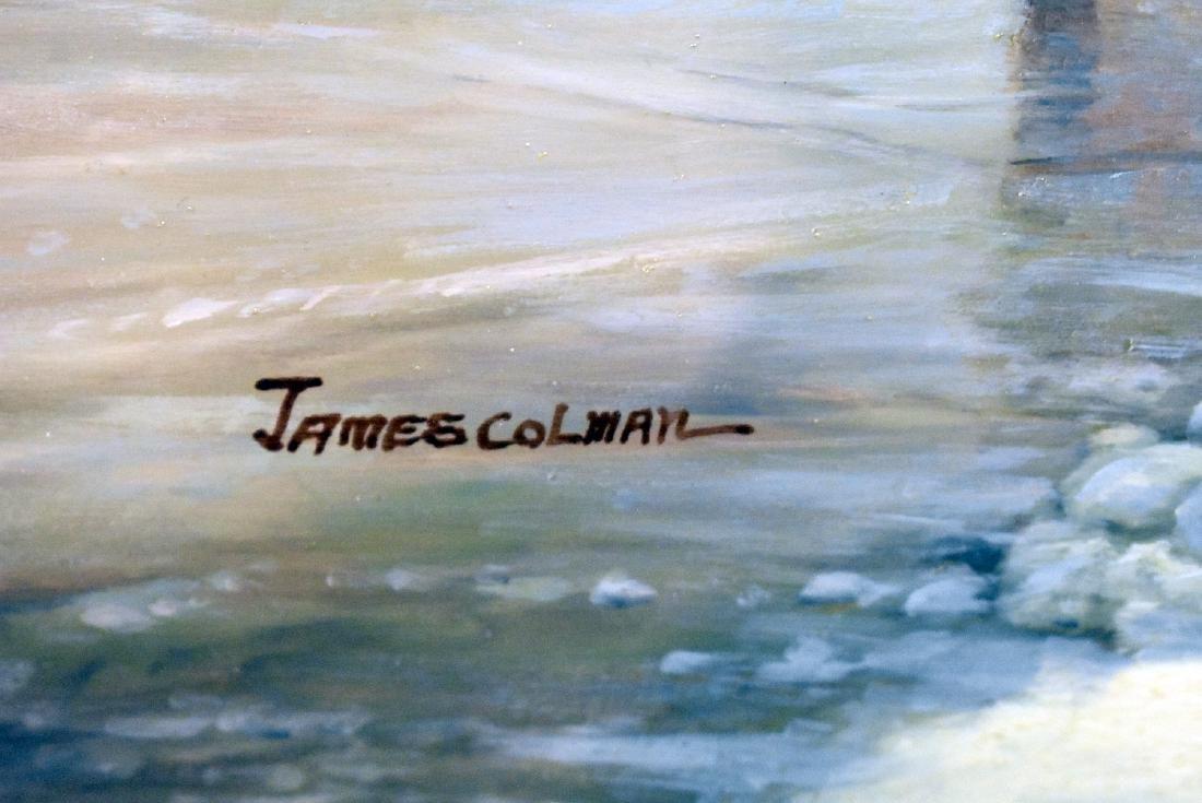 James Colman. Oil on Panel, Ice Skaters - 3