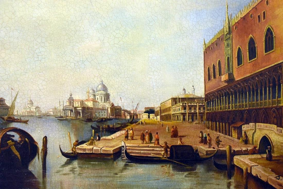 J. Aldrich. Oil on Panel, Venetian Harbor Scene - 2