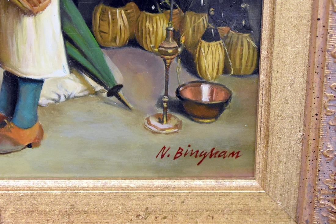 N. Bingham. Oil on Panel, Winemaking - 3