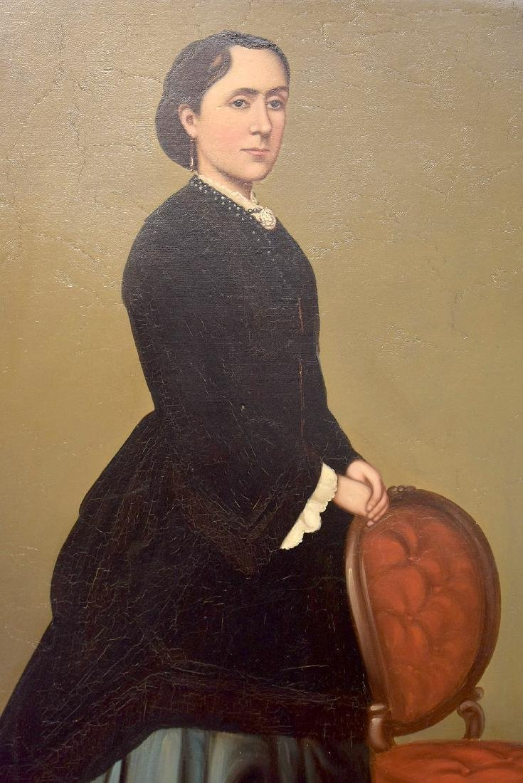 Unsigned. Oil on Canvas, Portrait of a Woman - 2