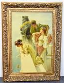 20th C Oil on Canvas Genre Scene