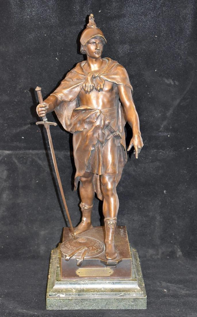 After Emile Picault Bronze Sculpture, Le Devoir
