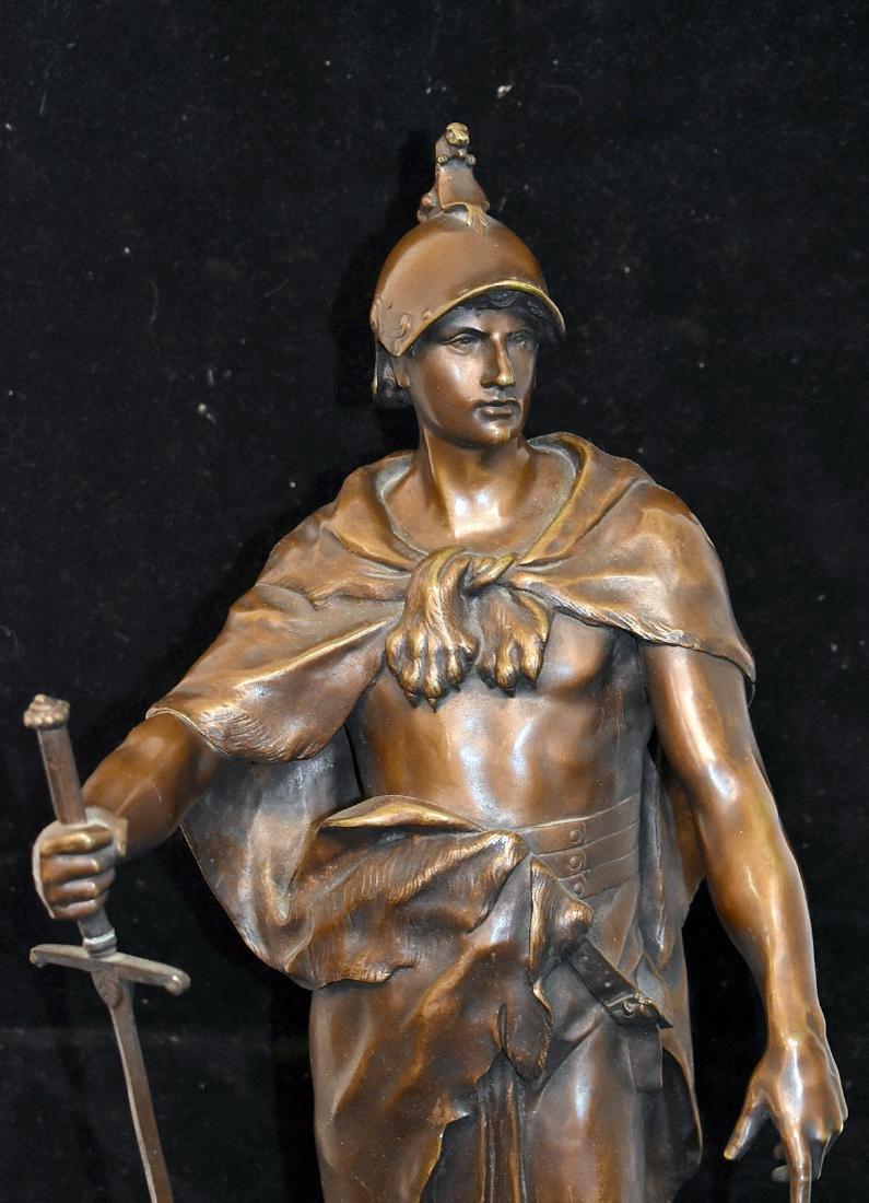 After Emile Picault Bronze Sculpture, Le Devoir - 2
