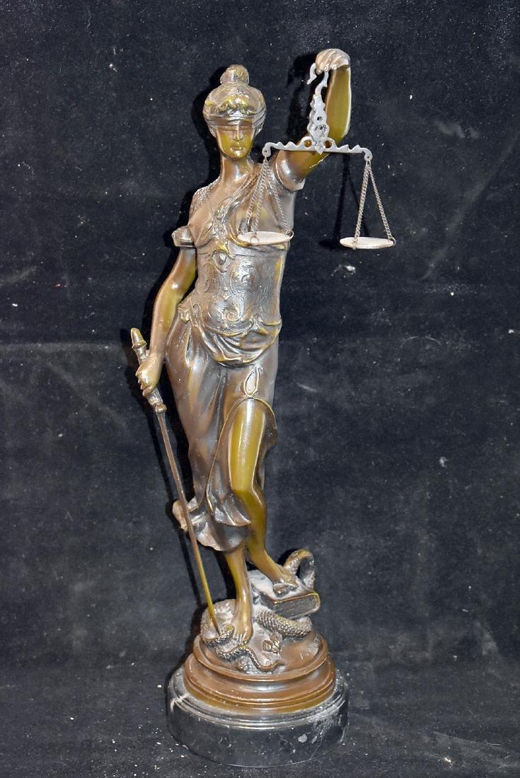 After Auguste Moreau Bronze, Lady Justice