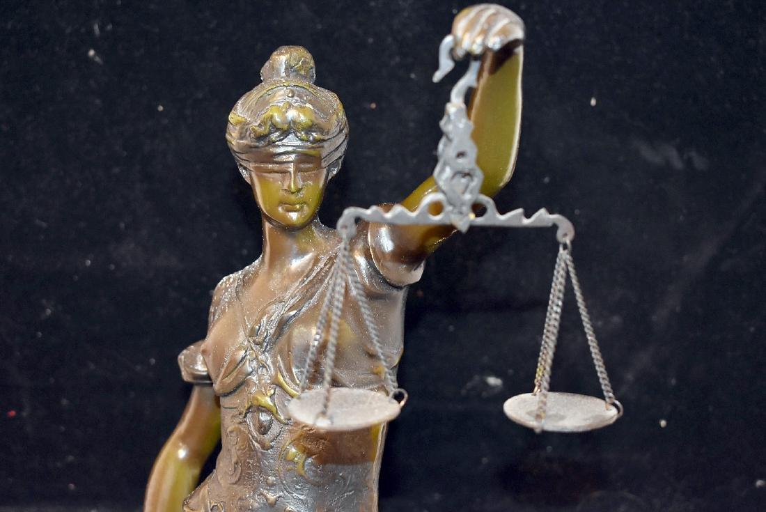 After Auguste Moreau Bronze, Lady Justice - 2