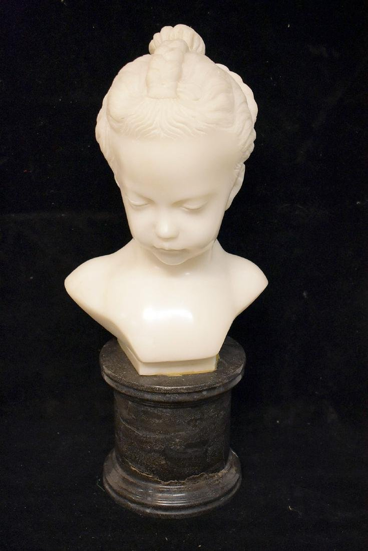 Carved White Marble Bust