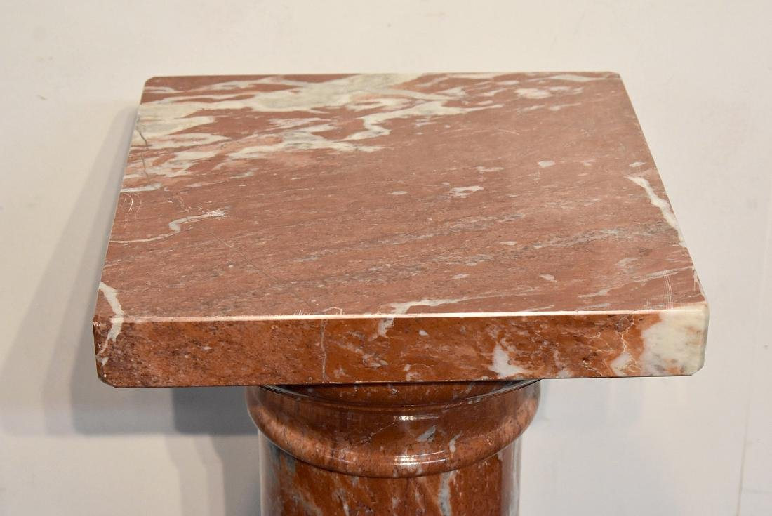 Four-Piece Turned Red Marble Pedestal - 2