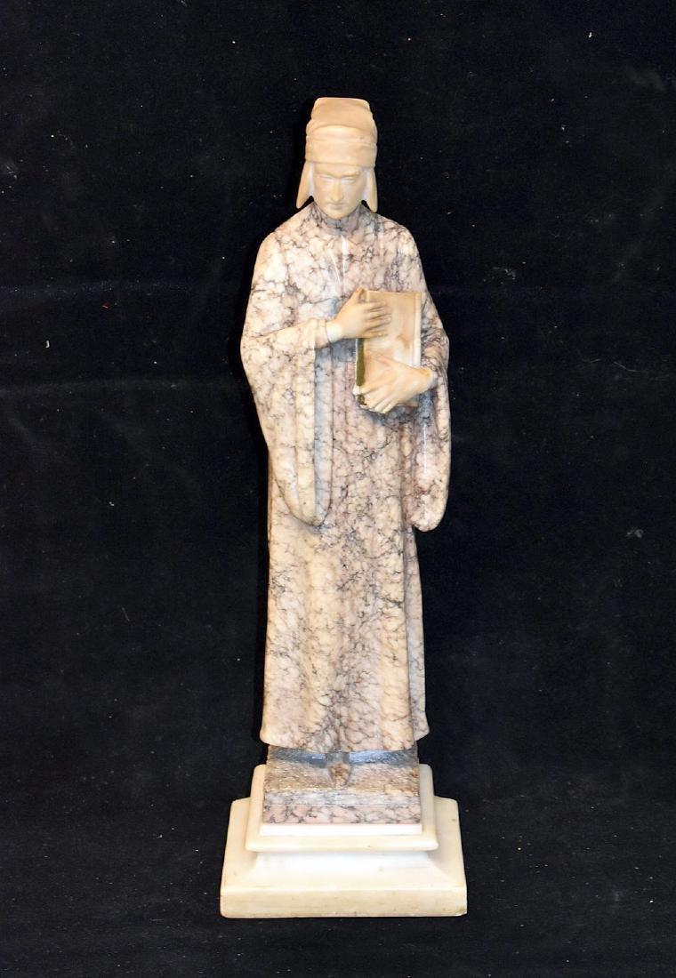 Carved Marble Sculpture, Priest