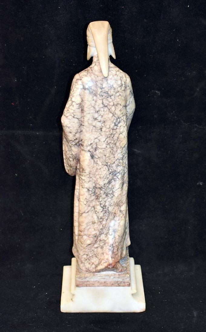 Carved Marble Sculpture, Priest - 3