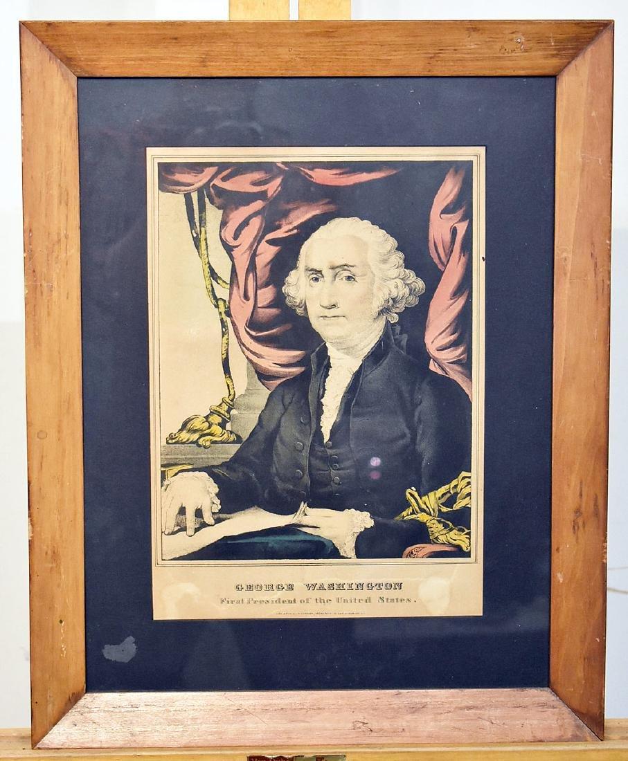 N. Currier Lithograph, George Washington