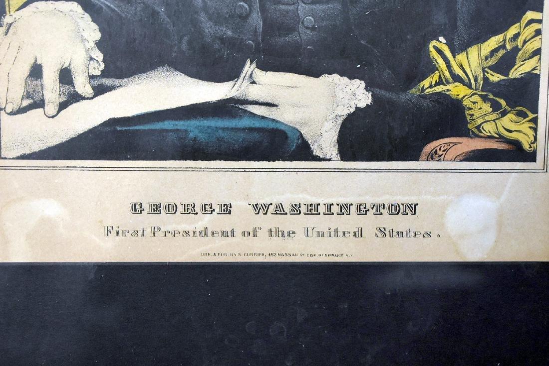 N. Currier Lithograph, George Washington - 2