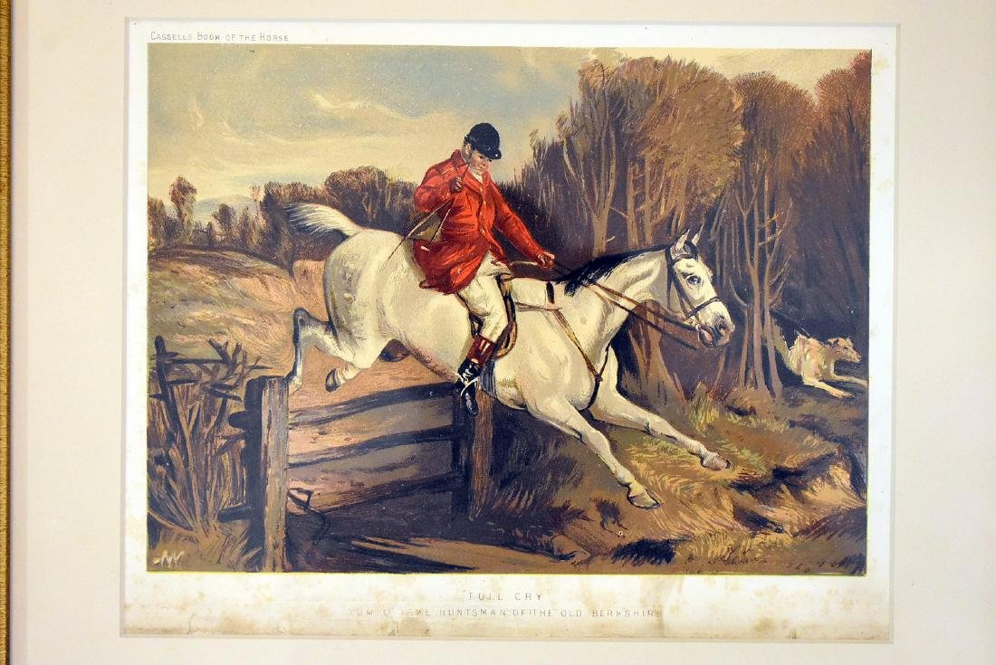 Two Hunt Scene Lithographs and Engraving - 2