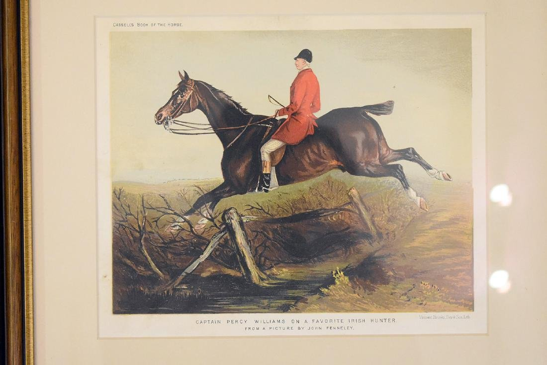 Two Hunt Scene Lithographs and Engraving - 3