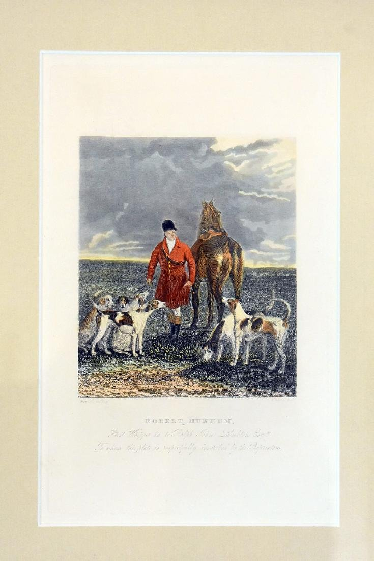 Two Hunt Scene Lithographs and Engraving - 4