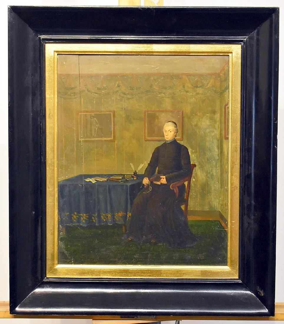 Oil on Panel, Portrait of a Gentleman