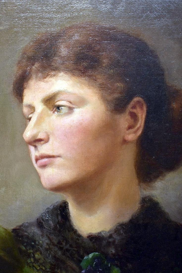 Oil on Canvas, Portrait of a Woman - 2