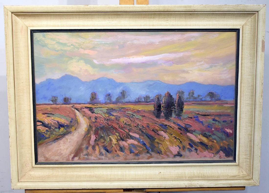Acrylic on Paper, Southwestern Landscape