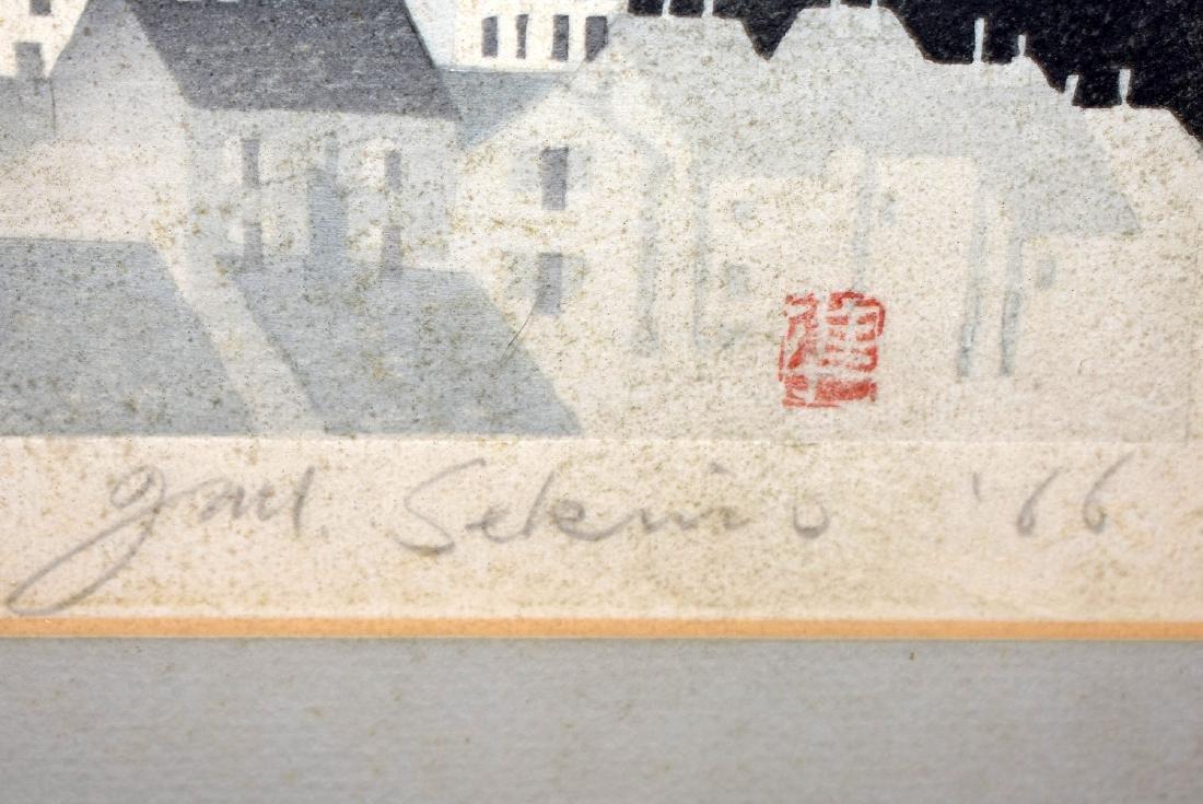 Jan Sekimo. Japanese Woodblock Print, Cityscape - 3