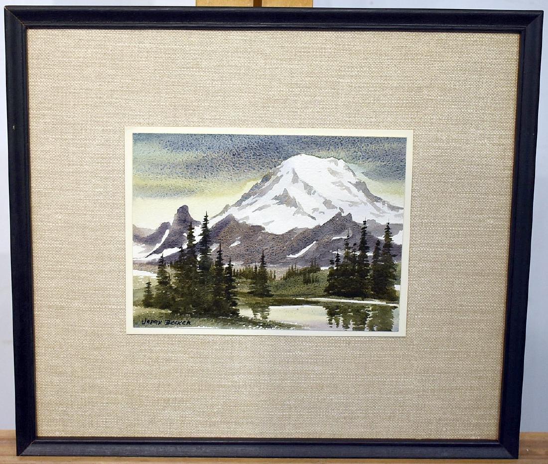 Jerry Becker. Watercolor, Mount Rainer.