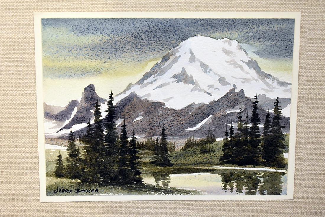 Jerry Becker. Watercolor, Mount Rainer. - 2