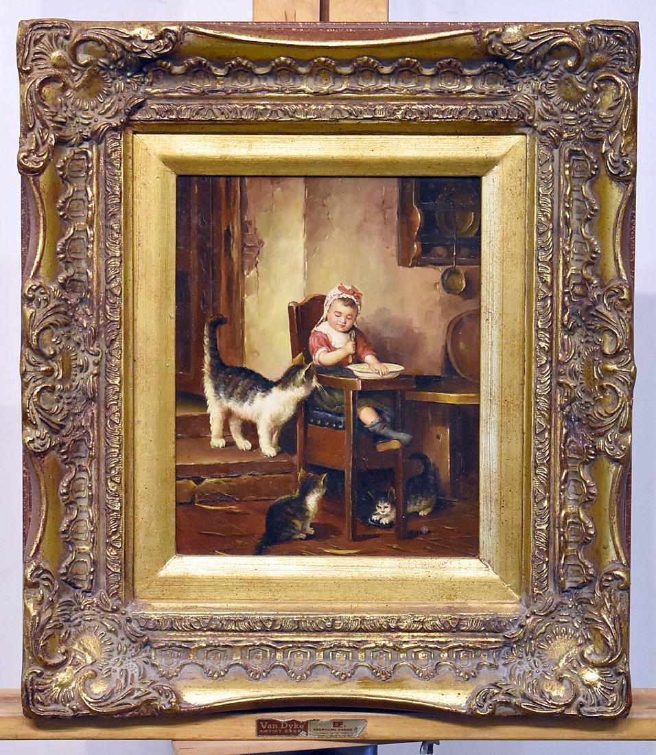 L. Parry. Oil on Panel, Genre Scene