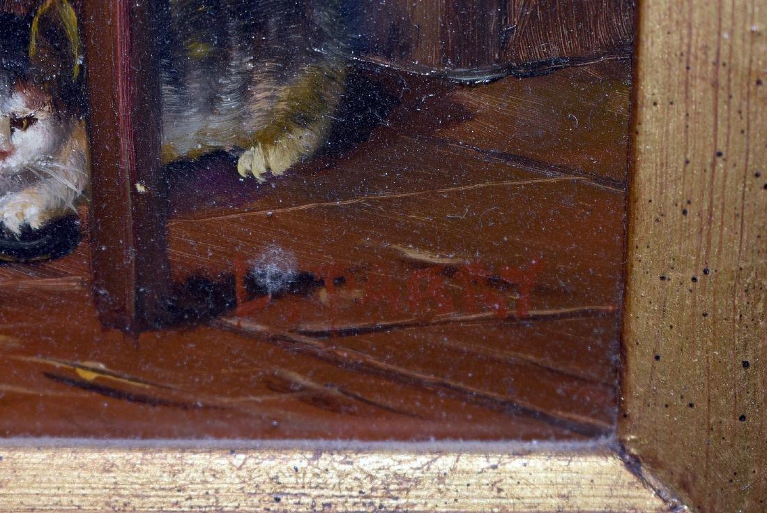 L. Parry. Oil on Panel, Genre Scene - 2
