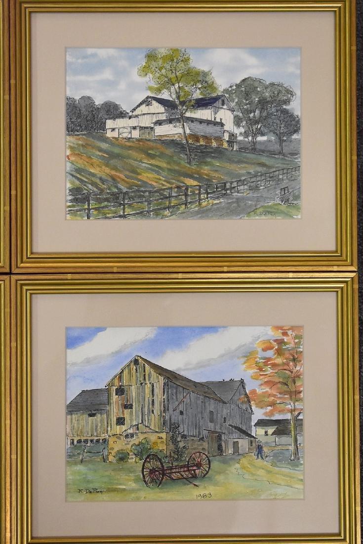 Robert DePuy. Four Watercolor Landscapes - 3